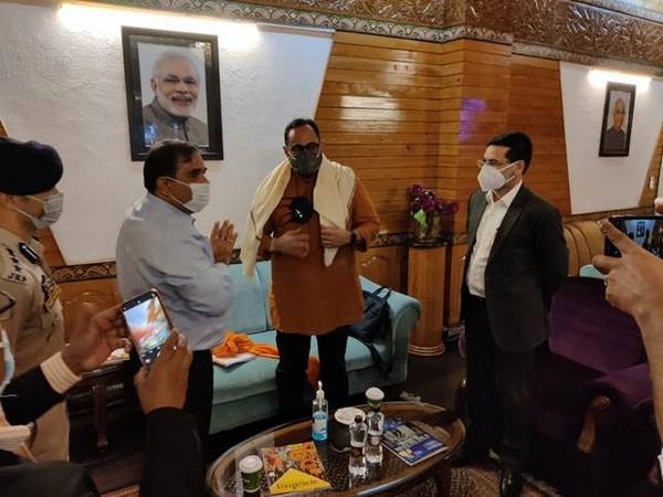 MoS IT, Rajeev Chandrasekhar inaugurates Sub District Hospital at Chrarisharief (Photo/Twitter)