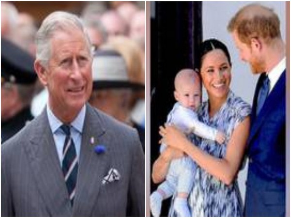 Prince Charles, Prince Harry and Meghan Markle with son Archie