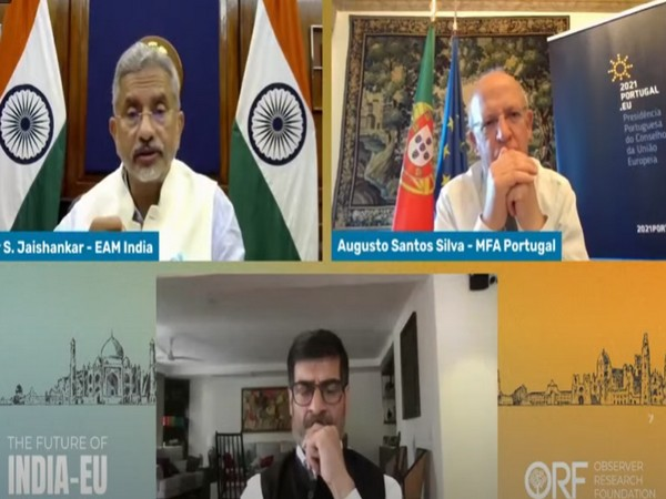 """External Affairs Minister (EAM) S. Jaishankar, speaking during a session at the Observer Research Foundation (ORF) on the """"Future of India-EU relations""""."""