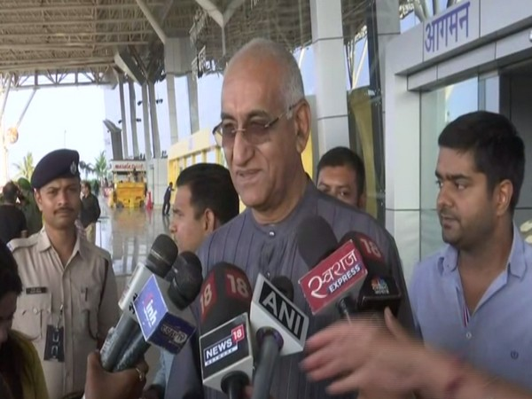 Congress leader TS Singh Deo speaks to media on Friday  [Photo/ANI]