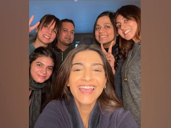 Actor Sonam Kapoor along with her entourage (Image Courtesy: Instagram)