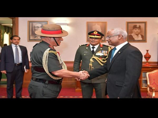 Indian Army Chief Gen. Bipin Rawat with Maldivian President Ibrahim Solih in Maldives