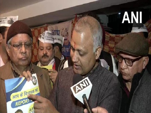 AAP MLA Somnath Bharti speaking to ANI in New Delhi on Tuesday.