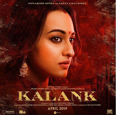 Sonakshi Sinha's look from 'Kalank,' image courtesy: Instagram