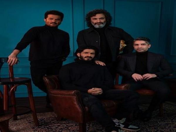 Anil Kapoor and Harshvardhan Kapoor with Abhinav Bindra (Image Source: Instagram)