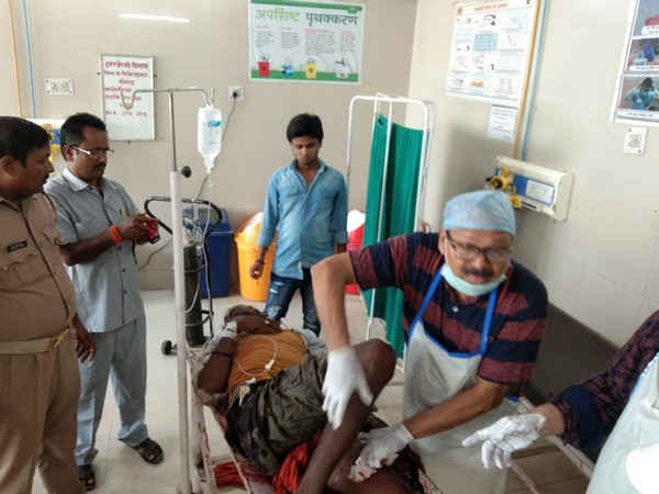 Visuals of the injured in district hospital in Sonb