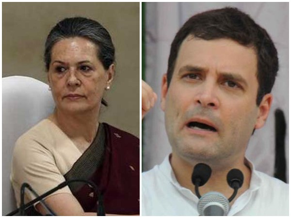 UPA chairperson Sonia Gandhi and Congress president Rahul Gandhi. Photo/ANI