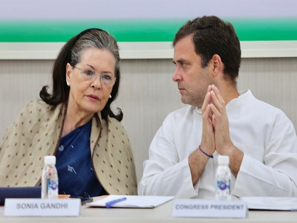 Congress President Rahul Gandhi interacts with Sonia Gandhi. (File Image)