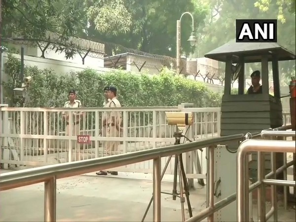 Visual from outside the residence of Sonia Gandhi in New Delhi.