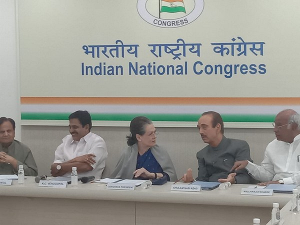 Congress President Sonia Gandhi chairs meeting of party functionaries on Saturday in New Delhi