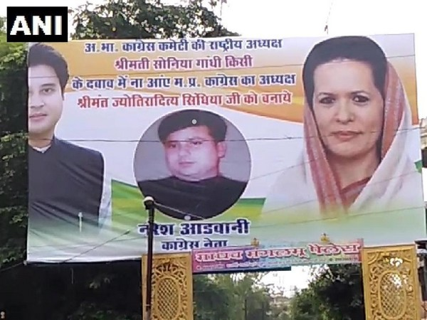 Hoardings requesting Sonia Gandhi to appoint Jyotiraditya Scindia as state party chief were seen in Gwalior