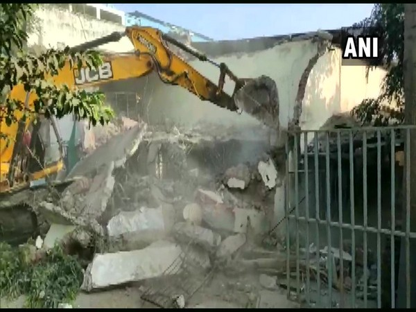 Indore Municipal Corporation demolished the property of Mahendra Soni on Saturday