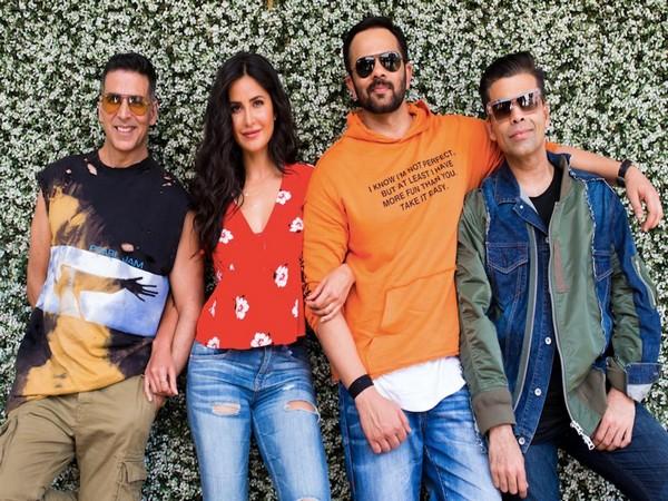 Akshay Kumar, Katrina Kaif, Rohit Shetty, Karan Johar (picture: Twitter)
