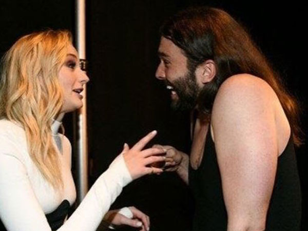 Sophie Turner and Jonathan Van Ness (Image courtesy: Instagram)