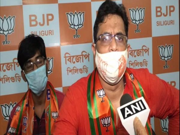 West Bengal BJP MP Saumitra Khan speaking to ANI. (Photo/ANI)
