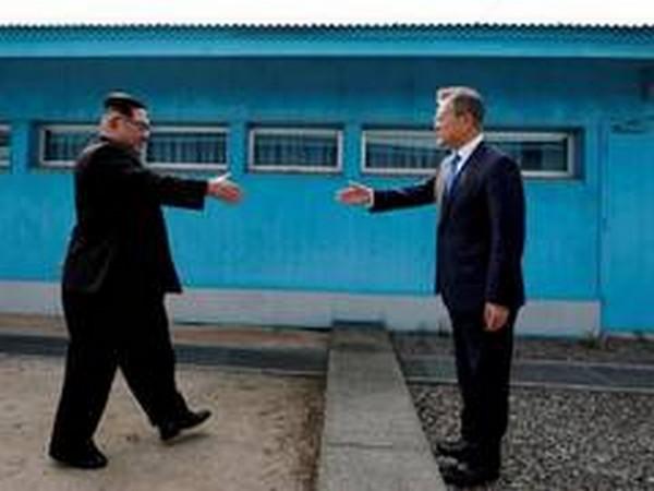 North Korean leader Kim Jong-un and South Korea President Moon Jae-in.