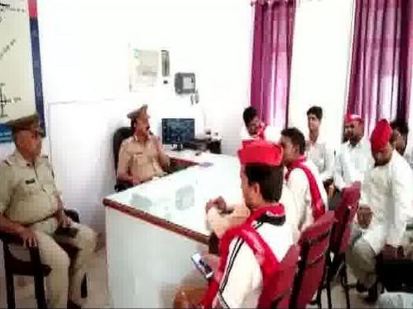 Many Samajwadi Party workers were detained in Sonbhadra on Sunday. Photo/ANI