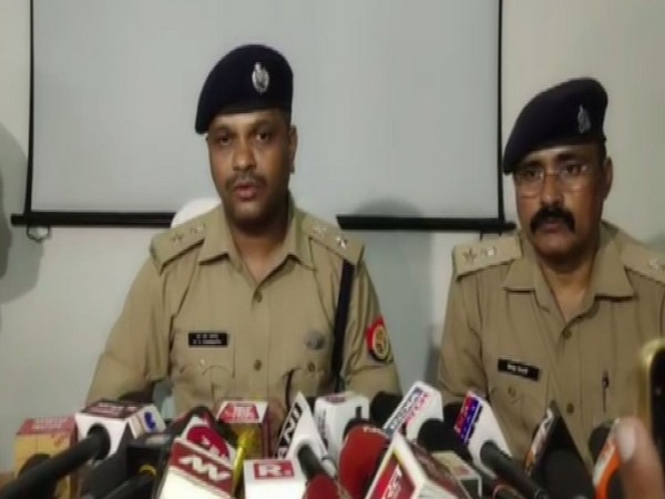 Shahjahanpur SP S Chanappa speaking to reporters on Tuesday. Photo/ANI