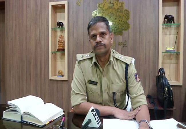 SP Shivamogga, KM Shantharaj speaking to ANI on Thursday.