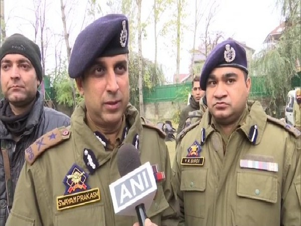 IGP Kashmir, SP Pani speaking to ANI on Tuesday.