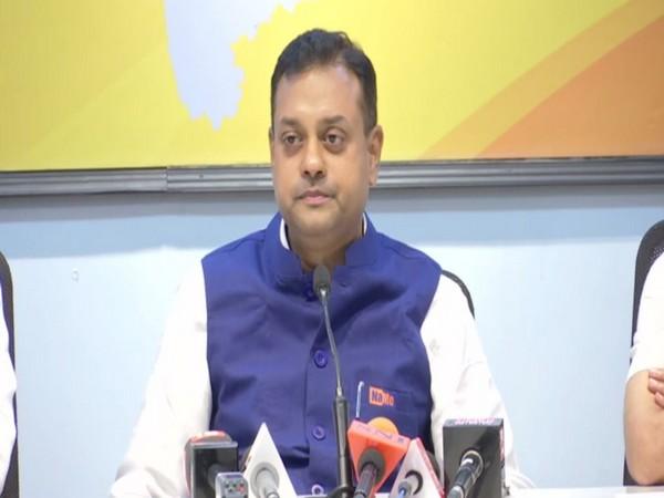 BJP spokesperson Sambit Patra speaking to reporters on Monday in Mumbai. Photo/ANI