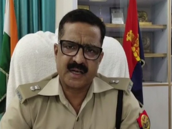 SP Greater Noida Ranvijay Singh talking to ANI at Greater Noida on Friday