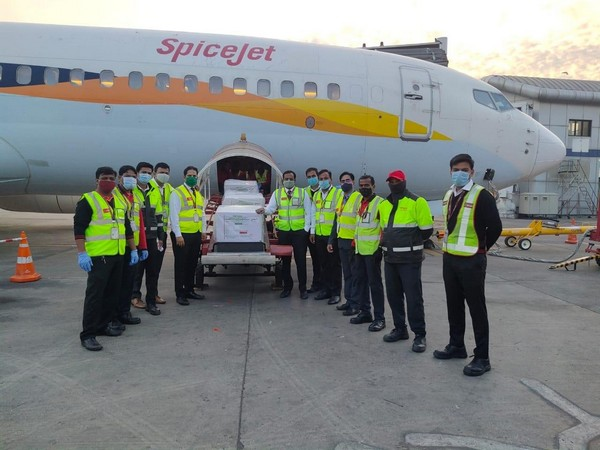 SpiceJet on Tuesday carried India's first consignment of Covid vaccine 'Covidshield' from Pune to Delhi.