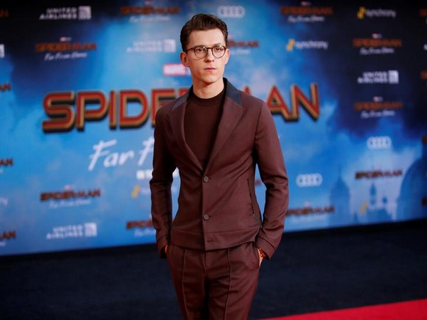 Actor Tom Holland poses at the World Premiere of Marvel Studios' 'Spider-Man: Far From Home'