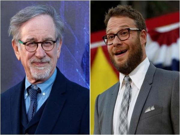 Steven Spielberg and Seth Rogen