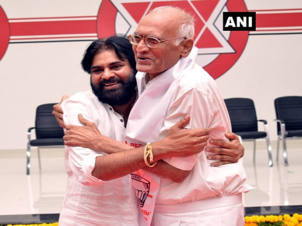 Telugu Desam Party MP SPY Reddy (Right) joins Jana Sena Party (JSP)