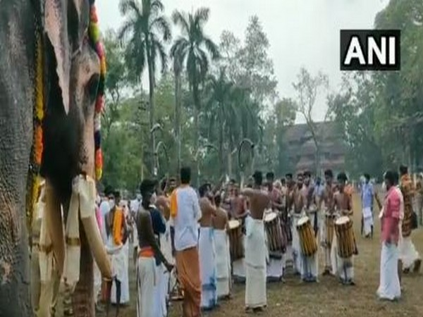 Thrissur Pooram festival being celebrated in Kerala. (Photo/ANI)