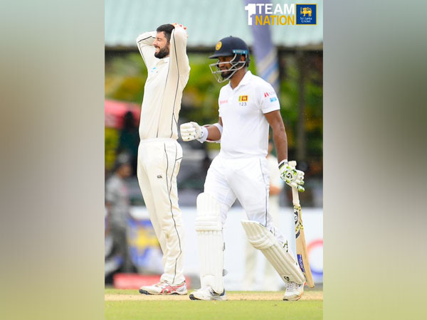 Sri Lanka scored 85/2 at the stumps of the first day of the second Test match against New Zealand. (Photo/Sri Lanka Cricket Twitter)