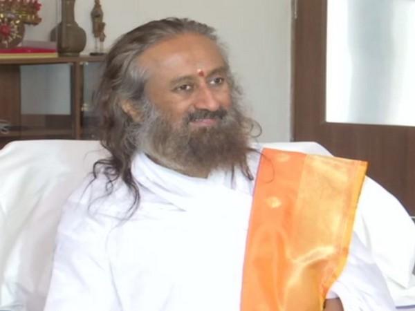 Sri Sri Ravi Shankar talking to ANI in Bengaluru on Saturday