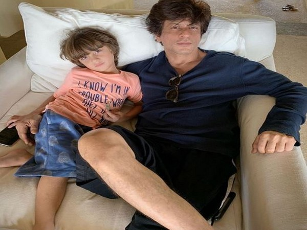 Shahrukh Khan and his youngest son AbRam Khan (Photo courtesy: Instagram)