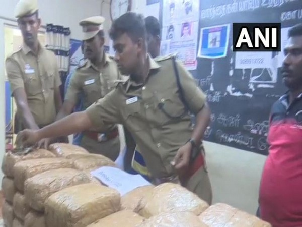 80 kg cannabis (ganja) was seized from a vehicle in Rameswaram here on Wednesday.