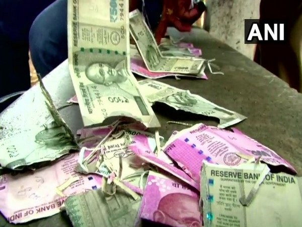 Currency notes worth Rs 50,000 of a farmer were destoyed by rats in Coimbatore district (Photo/ANI)