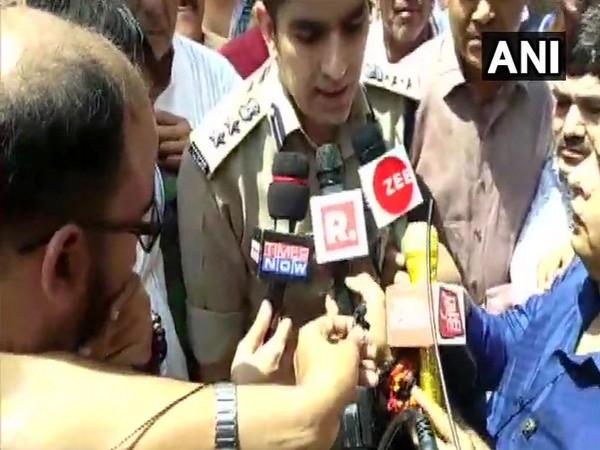 Akash Kulhari , SSP Aligarh talking to media persons in Aligarh on Saturday