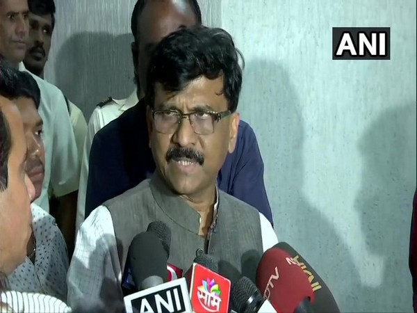 Sanjay Raut speaking to reporters in Mumbai on Wednesday.