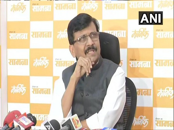 Sanjay Raut speaking to reporters in Mumbai on Thursday.