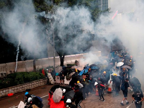 The agitators were hurling petrol bombs at various location while the HK Police responded with teargas, CNN reported.