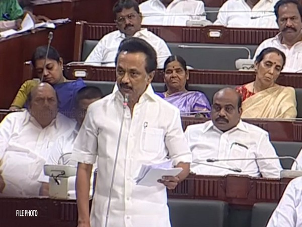 DMK President MK Stalin speaks in Assembly before walkout. (Photo courtesy: DMK twitter handle)