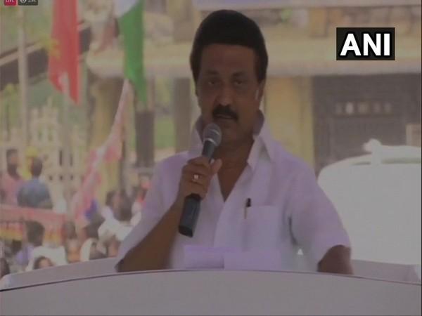 DMK chief MK Stalin speaking in Perambalur on Friday.