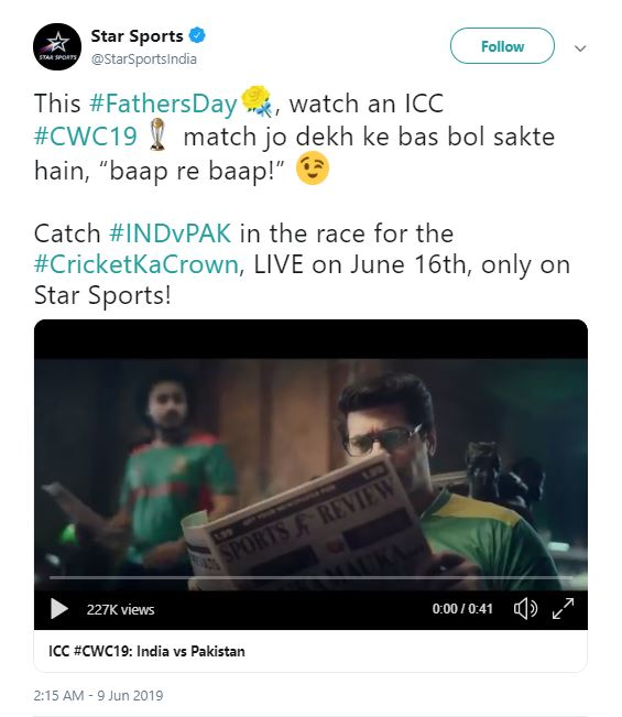 PCB complaints to ICC over India-Pak CWC'19 advertisement