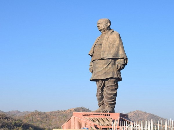 The 597-feet tall Statue of Unity in Gujarat (Photo/ANI)