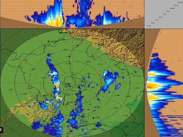 Visual representation of cloud formation over Delhi (Photo/Twitter)