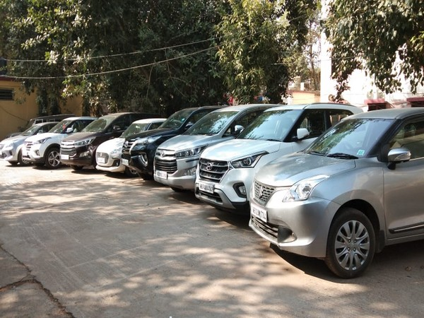 Eight stolen vehicles were seized by the police. Photo/ANI
