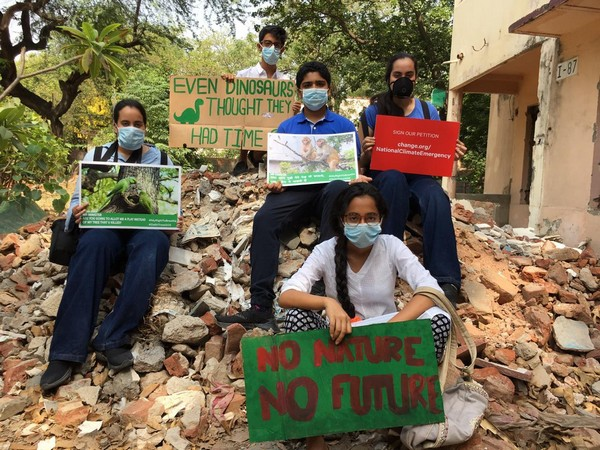 Students showing up support to the initiative started by Delhi boy Aman Sharma