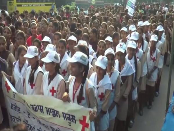 Peace march in Ludhiana (Photo/ANI)