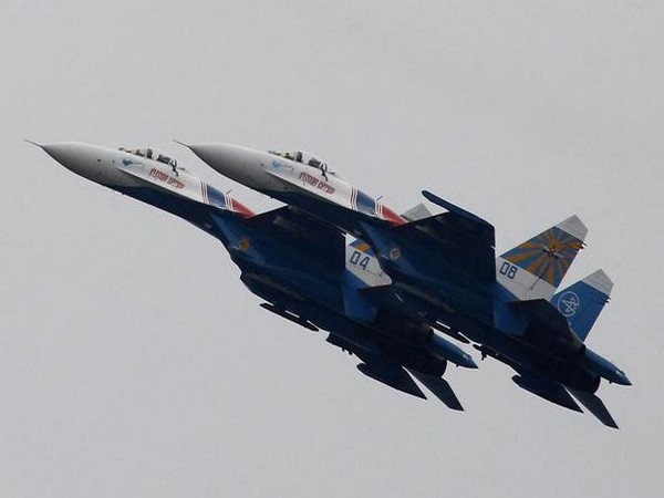 The Russian Su-27 fighter jets
