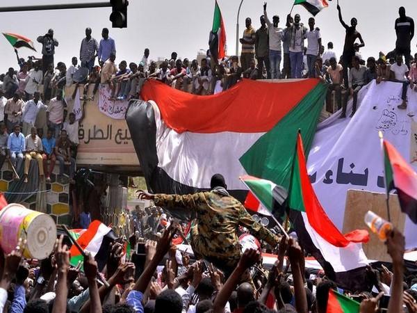 Protests in Khartoum, Sudan on April 11